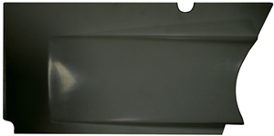 XXX Sprint Car Upper Kick Panel (Horizontal Split Design).  Left.  Black.