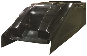 XXX Sprint Car Dual Duct Cool Air Hood.  Standard Height.  Black.