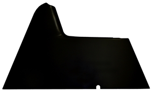 XXX Sprint Car Right Arm Guard.  Flat.  Fiberglass.  Standard Height.   Black.