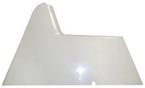 "XXX Sprint Car Right Arm Guard.  Flat.  Fiberglass.  2"" Tall.  White."