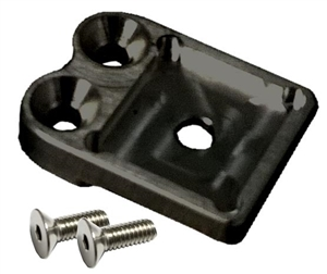 Top Steering Gear Mount Fuel Shutoff Bracket (Waterman).  Black.