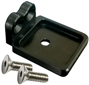 Top Steering Gear Mount Fuel Shutoff Bracket (DMI).  Black.