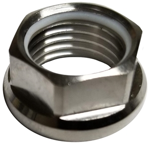 "Smith Ti 1/2"" Jet Nut with (replaceable) Nylon Lock"