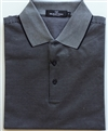 Bugatchi mens black mercerized Egyptian cotton polo shirt