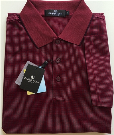 Bugatchi mercerized Egyptian cotton polo red