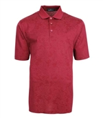 Bugatchi mens fancy mercerized cotton polo shirt ruby red paisley
