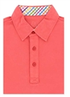 Bugatchi T-shirt polo short sleeve - L - CORAL