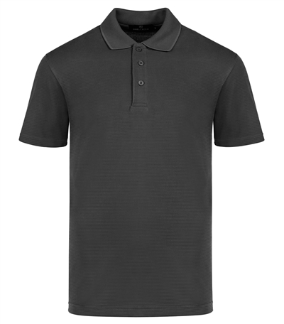 mens ribbed polo shirt black small bugatchi