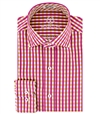men's gingham shirt raspberry  red