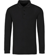Bugatchi Ribbed Long Sleeve Polo Shirt