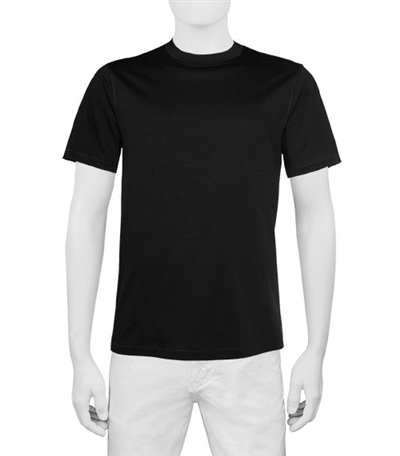 Bugatchi men's crew neck t-shirt short sleeve - M - Black