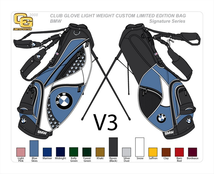 Custom Golf Stand Bag By Club Glove