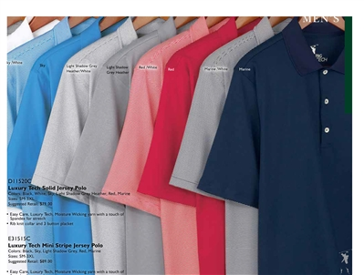 Men's solid Fairway and Greene TECH polo shirt