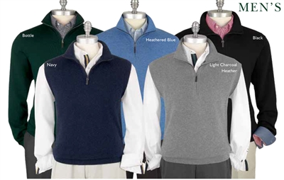 Baruffa Merino windvest Fairway and Greene