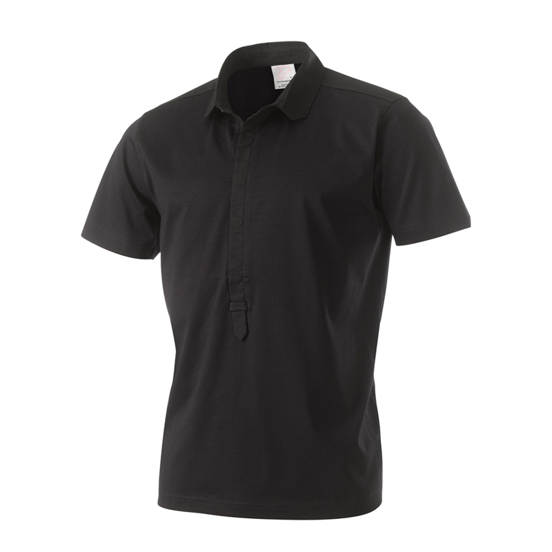 Ian Poulter 3 Button Round Collar Shirt Black Medium
