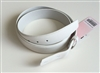 white Leather Belt Ian Poulter