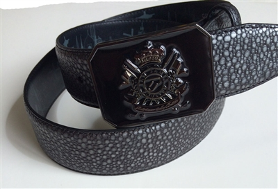 Leather Embossed Belt Ian Poulter