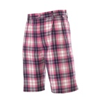 Ian Poulter Signature Tartan Shorts- Hot Pink