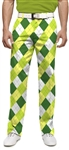 a tisket a tasket green argyle mens pants | Loud Mouth Golf golf pants worn by John Daly