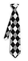 Black and White Argyle  Silk Tie LoudMouth Golf