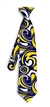 Blue Gold Splash Silk Tie LoudMouth Golf
