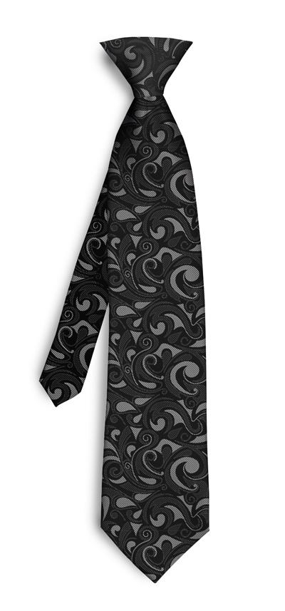 Loudmouth Golf Silver & Black Splash Mini Silk Tie
