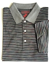 Como Sport men's black striped polo shirt