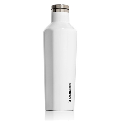 white gloss custom logo canteen corkcicle