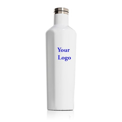 white custom logo canteen corkcicle 25 oz