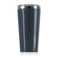 Gloss Graphite custom logo tumbler corkcicle