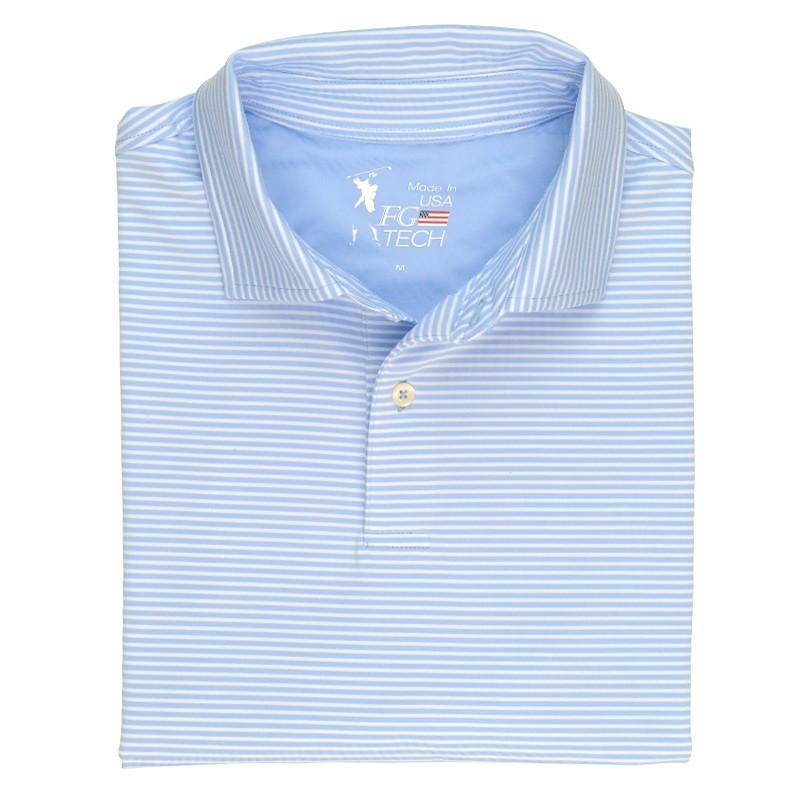 a4bbe791 Fairway and Greene made in usa men's polo shirt. Moisture wicking  performance shirt for golf