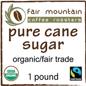 Pure Cane Sugar - 16 oz. - Fair Trade/Organic