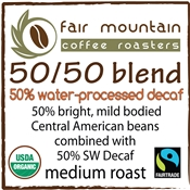 50/50 Water Processed Decaf Blend - 16 oz - Fair Trade Organic