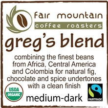 Greg's Blend - 16 oz - Fair Trade Organic
