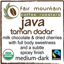 Java Taman Dadar - 16 oz - Organic Rainforest Alliance