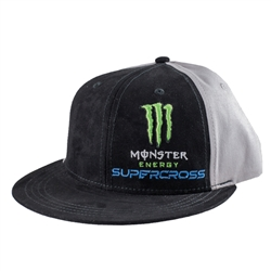Monster Energy Supercross Grey Suede Hat