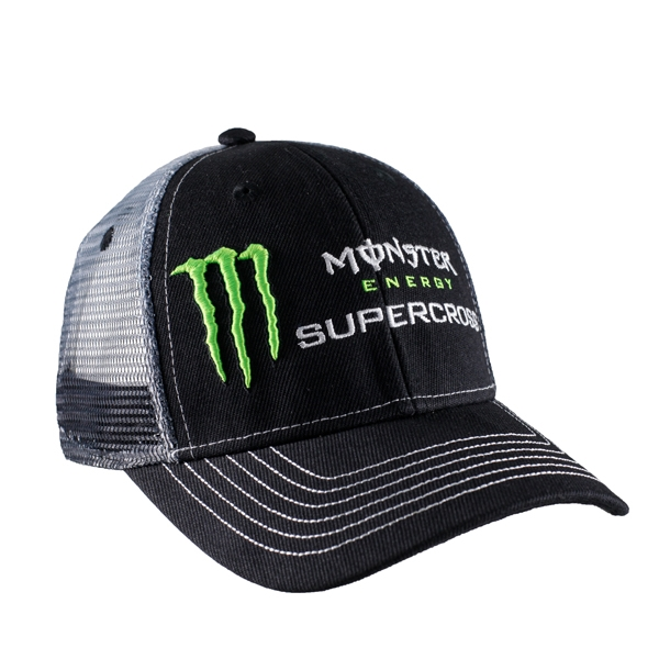 54f0655bb7 Monster Energy Supercross Sponsor Cap With Mesh Back