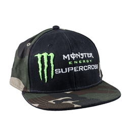 Camo Monster Energy Supercross Cap
