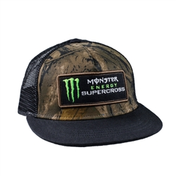Camo Monster Energy Supercross Cap With Mesh Back