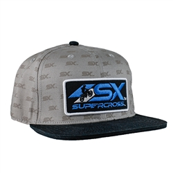 Supercross Logo Pattern Cap