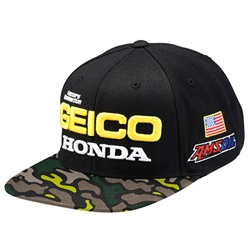 GEICO Honda Podium Black/Camo Hat