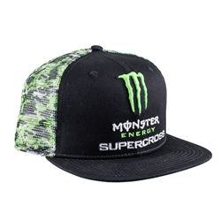 Monster Energy Supercross Mesh Back Camo Cap