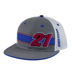 Jason Anderson Grey Youth Number 21 Cap