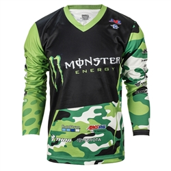 Supercross Green/Camo Jersey