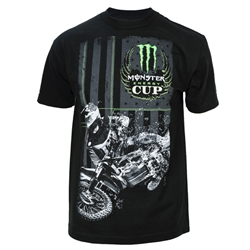 Monster Energy Cup American Flag Rider Tee