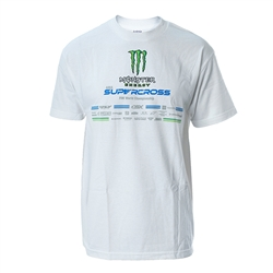 Monster Energy Supercross 2019 Series White Tee