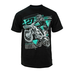 Monster Energy Supercross Stewart 27 Black Triangle Tee