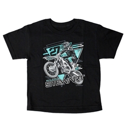 Monster Energy Supercross Stewart 27 Black Triangle Youth Tee