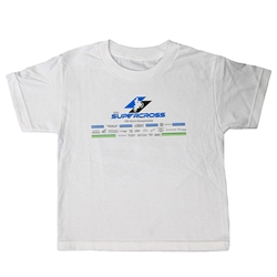 Youth 2019 White Worlds Tee