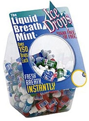 ICE DROPS LIQUID BREATH FRESHENERS ASSORTED 100 COUNT
